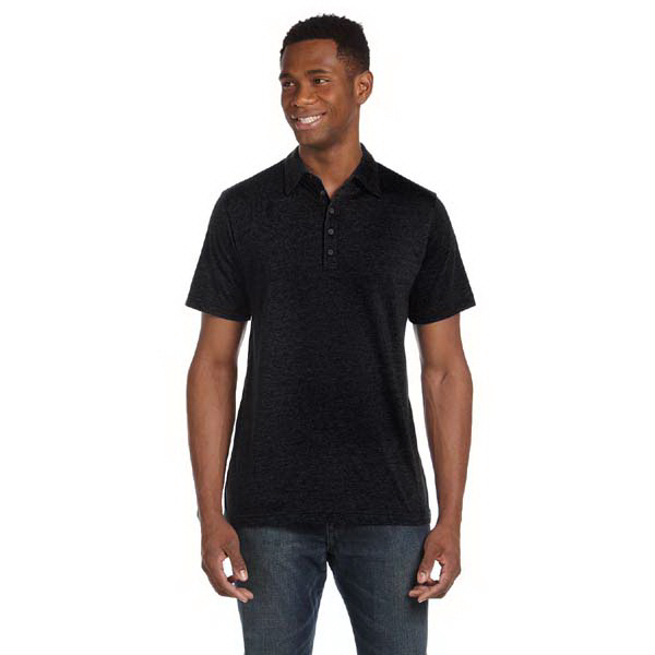 Promotional Bella & Canvas Men's Jersey Short Sleeve Five Button Polo