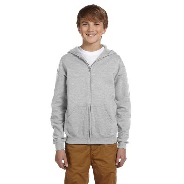 Imprinted Youth 8 oz. NuBlend (TM) 50/50 Full Zip Hood