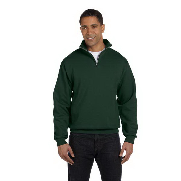 Custom Jerzees 8 oz. NuBlend 50/50 Quarter Zip Cadet Collar Sweatsh