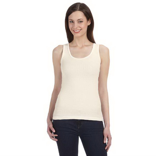 Custom Bella & Canvas Ladies' Organic 2x1 Rib Tank