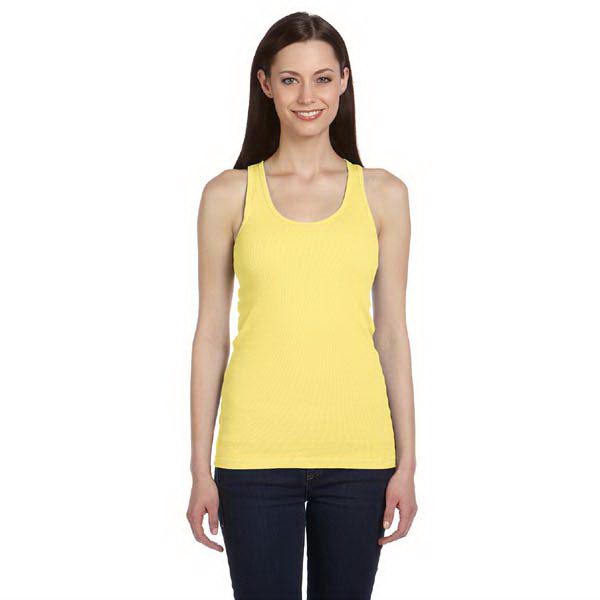Imprinted Ladies' 2x1 Rib Racerback Longer Length Tank
