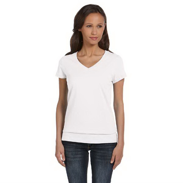 Promotional Bella & Canvas Ladies' Jersey Short Sleeve V-neck T-shirt