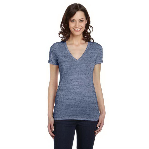 Imprinted Bella & Canvas Ladies' Jersey Short Sleeve V-neck T-Shirt