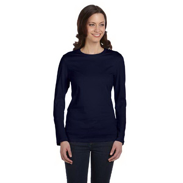 Custom Bella & Canvas Ladies' Jersey Long Sleeve T-Shirt