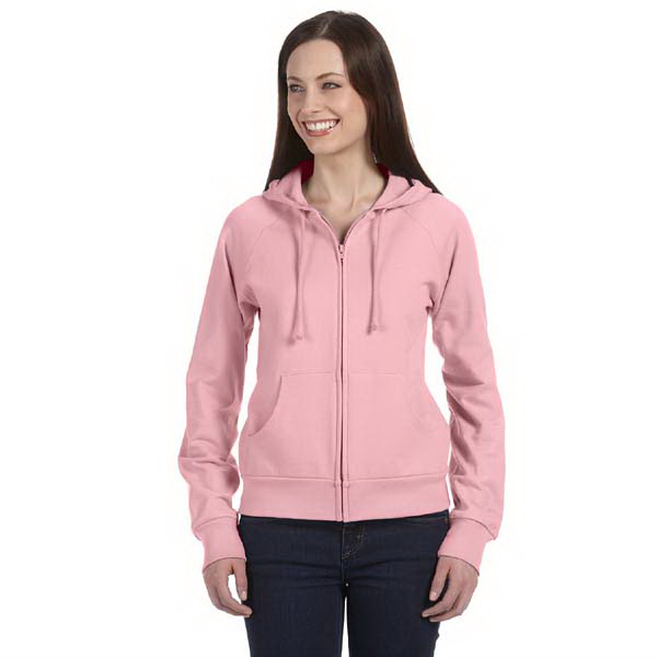 Personalized Bella & Canvas Ladies' Fleece Full-Zip Raglan Hoodie