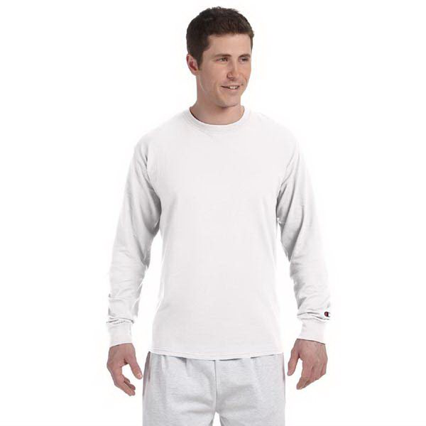 Custom Champion 5.2 oz Long Sleeve Tagless T-Shirt