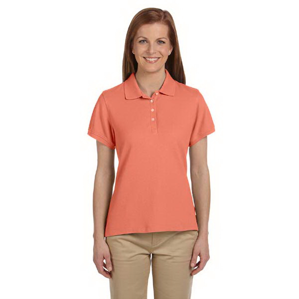 Imprinted Ladies' Performance Plus pique polo