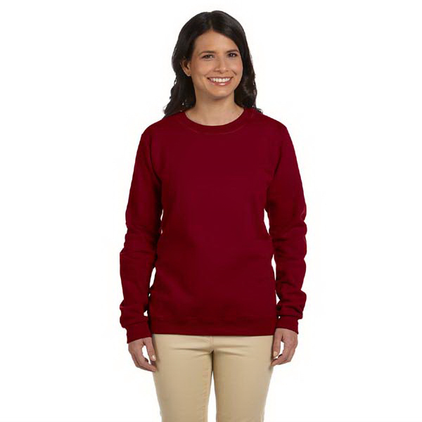 Imprinted Gildan Ladies' 8 oz. Heavy Blend (TM) 50/50 Fleece Crew