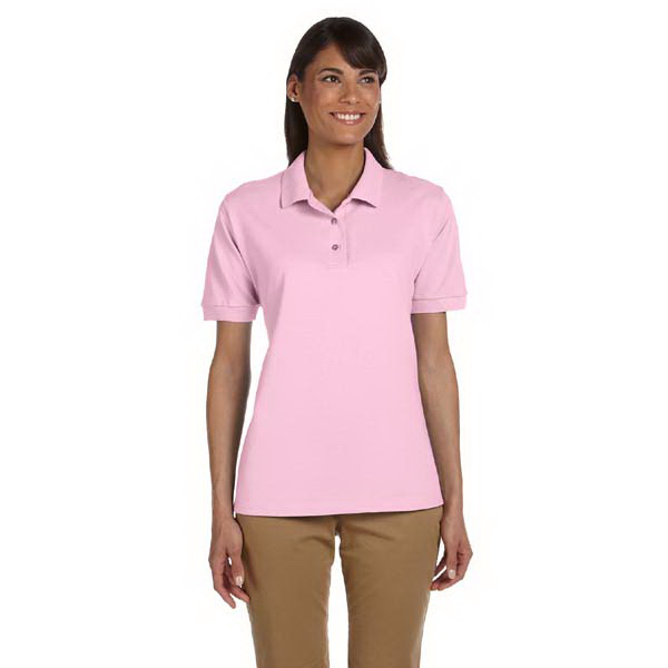 Custom Ladies' 6.5 oz. Ultra Cotton (R) Ringspun Pique Polo