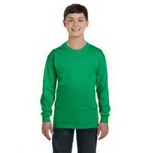 Custom Gildan Youth 5.3 oz Heavy Cotton Long-Sleeve T-Shirt