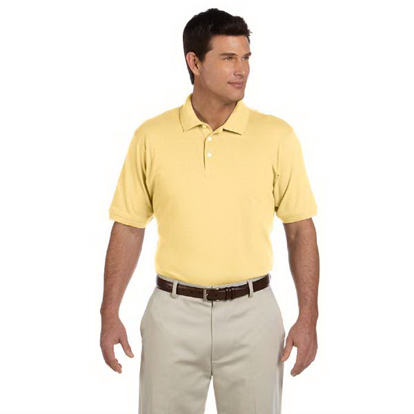 Custom Men's Ringspun Cotton Pique Short Sleeve Polo