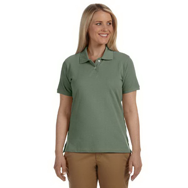 Promotional Ladies' Ringspun Cotton Pique Short Sleeve Polo