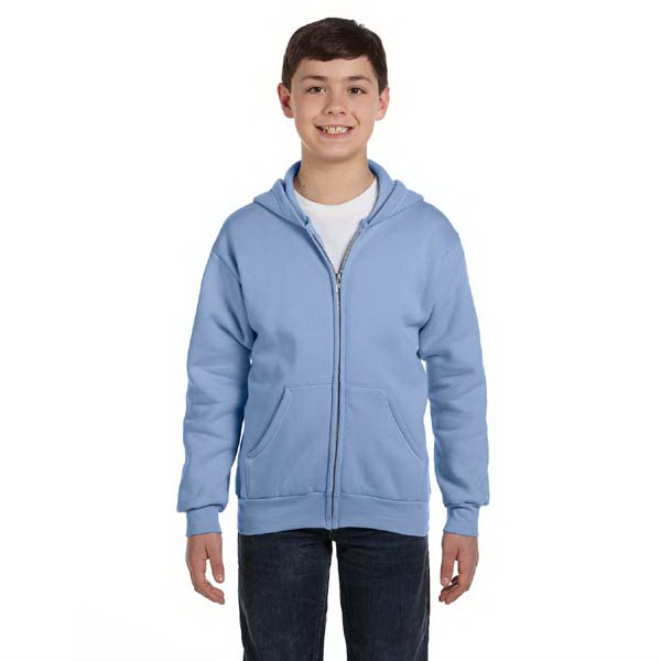 Imprinted Youth ComfortBlend (R) EcoSmart (TM) 50/50 Full Zip Hood