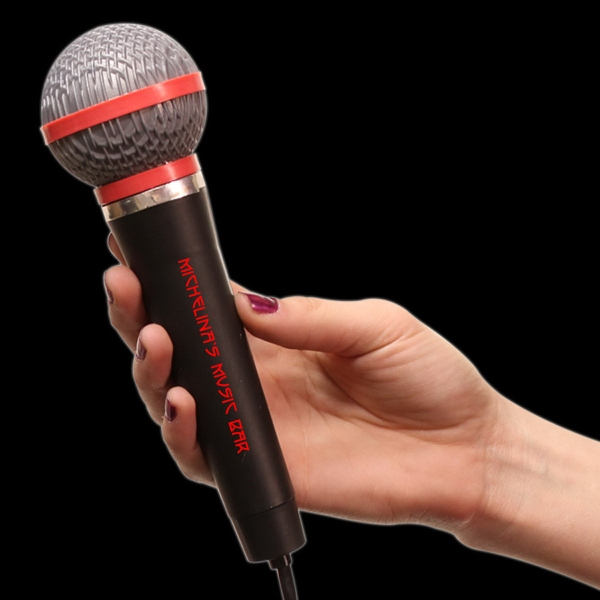 "Imprinted 10"" Plastic Toy Microphone"