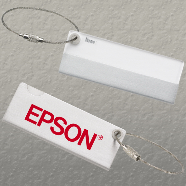 Promotional LUGGAGE TAG SILVER