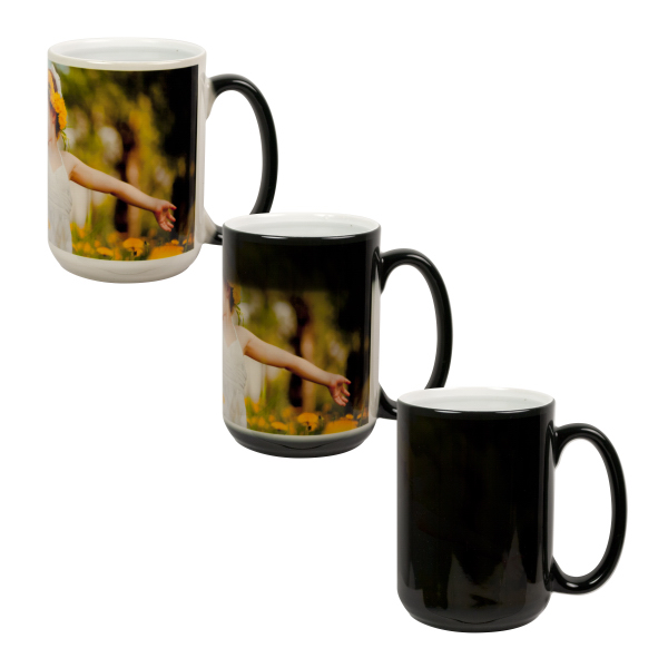 Printed 15 oz Color Changing Mug (Black)