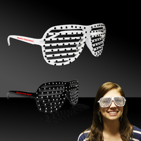 Promotional Black & White Sparkle Slotted Eyeglasses