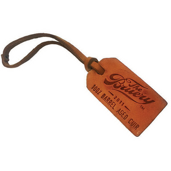 Printed Leather Luggage tag