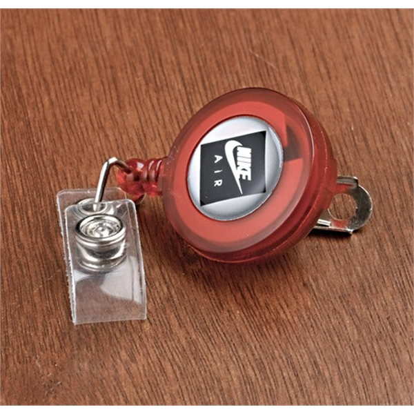Personalized Round Badge Holder