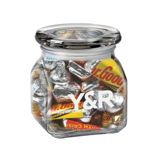 Imprinted Contemporary Glass Jar / Hershey's (R) Everyday Mix