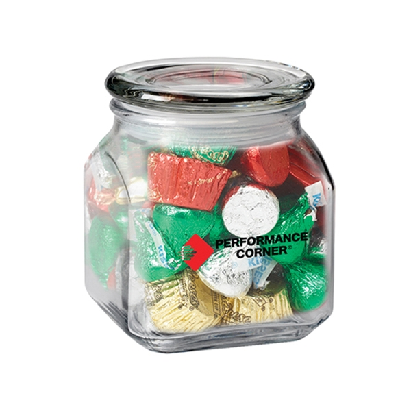 Custom Contemporary Glass Jar / Hershey's (R) Holiday Mix