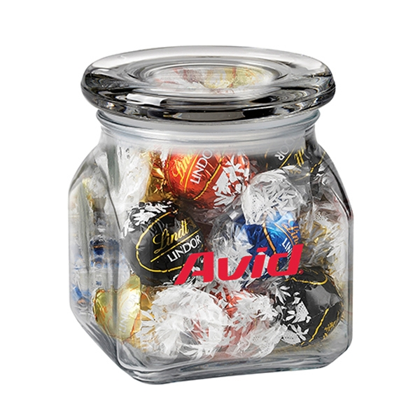 Promotional Contemporary Glass Jar / Lindt (R) Truffles