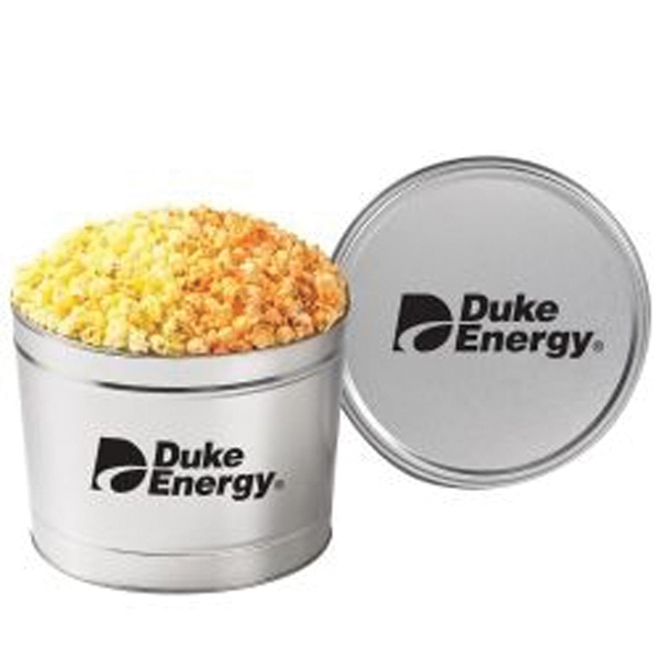 Customized 2 Way Popcorn Tin /1.5 Gallon
