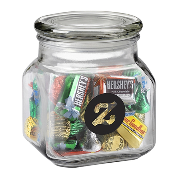 Printed Contemporary Glass Jar / Hershey's (R) Holiday Mix