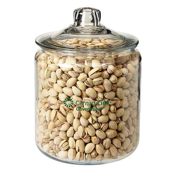 Custom Half Gallon Glass Jar / Pistachios