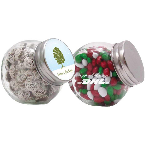 Printed Glass Canister Jar / Gourmet Jelly Beans