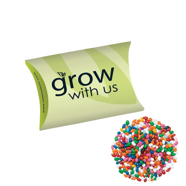 Promotional Pillow Box/Chocolate Covered Sunflower Seeds/Gemmies