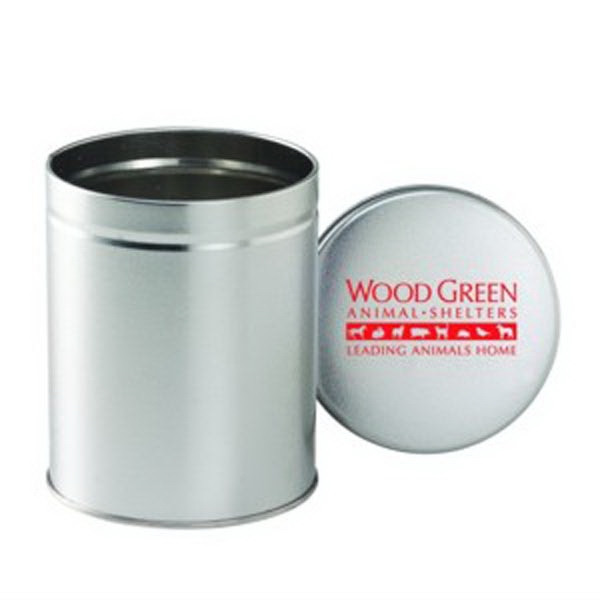 Custom Empty Quart Round Tin