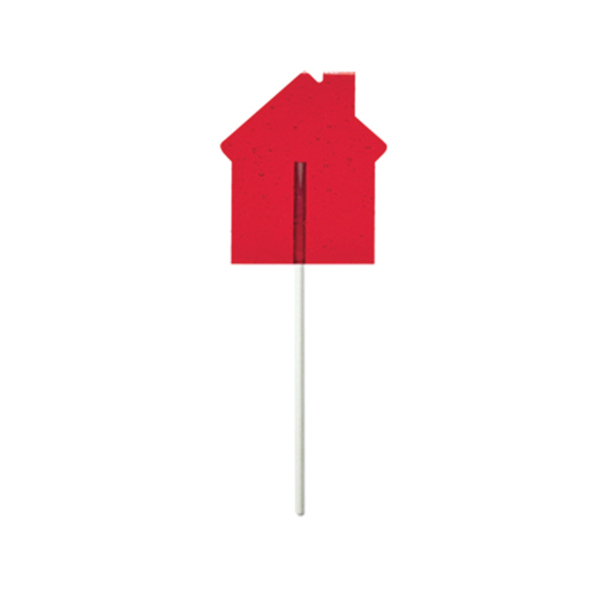 Customized Red House Fun Size Price Buster Lollipop