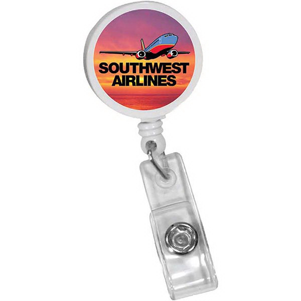 Custom Round Badge Holder with Slide-On Clip