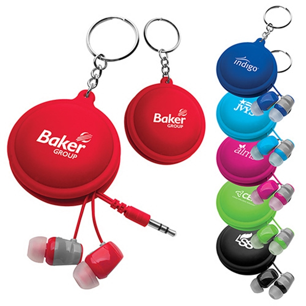 Custom Macaroon Earbud Holder Key Ring