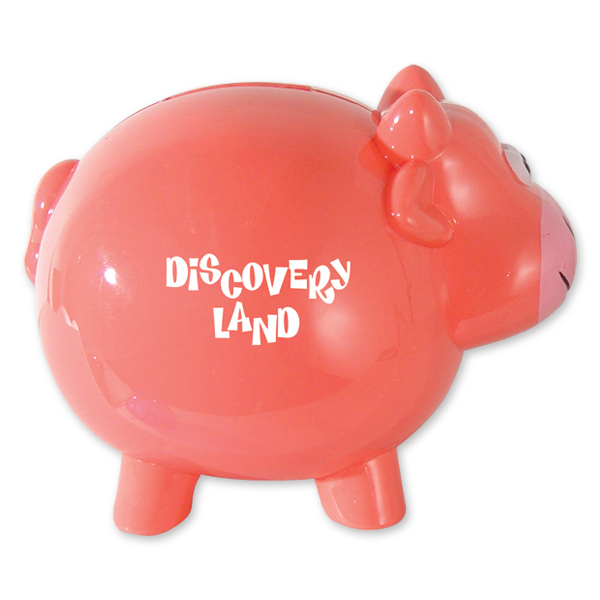 Personalized Pink Cow Shaped Bank