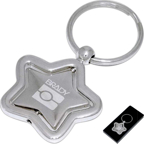 Customized Star Spinner Keychain