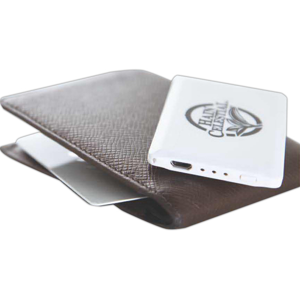 Imprinted Credit Card Size Portable Charger