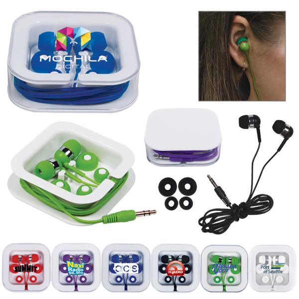 Printed Earbuds in Square Case