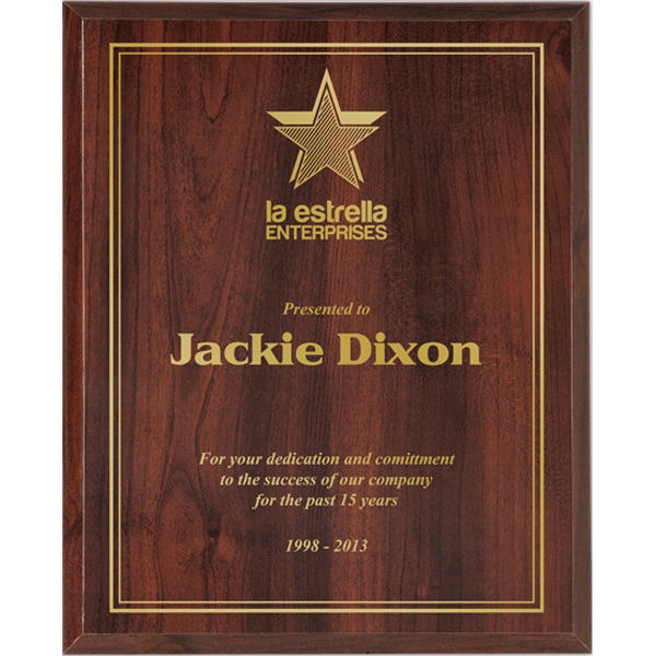 Personalized ValuWorx Cherry Plaque