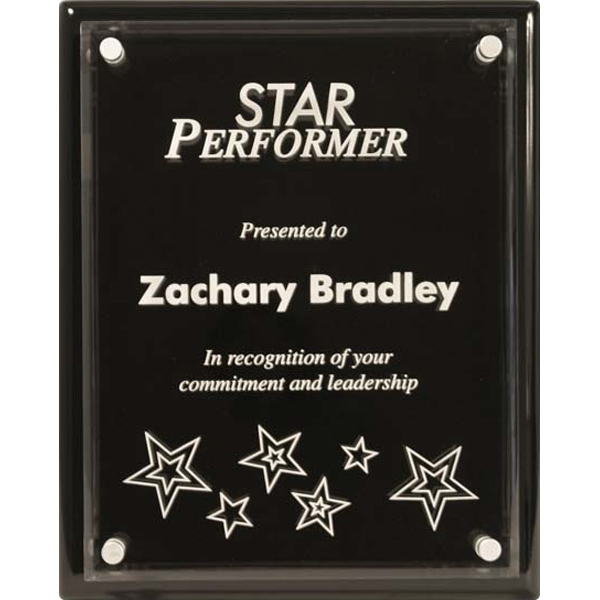 Custom Monterey Ebony Piano Finish Plaque