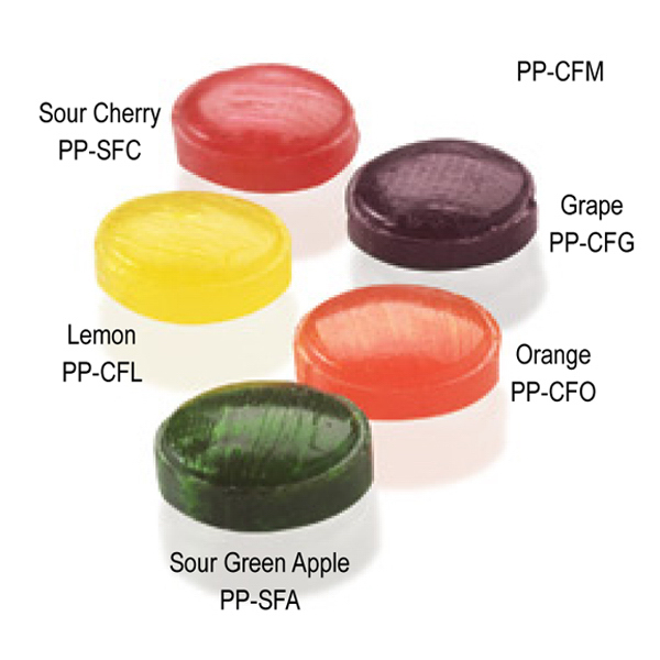 Personalized Individually wrapped grape flavor burst candies