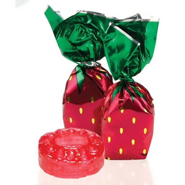 Custom Individually wrapped strawberry delight candy