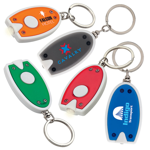 Imprinted One Push LED Keychain