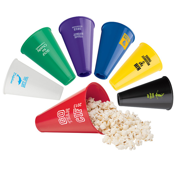 Custom Megaphone and Popcorn Holder