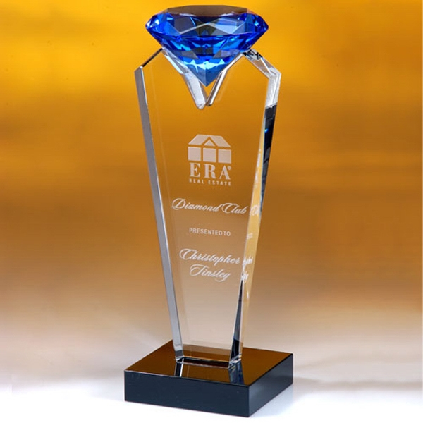 Custom Akron Blue Diamond Award - 9""