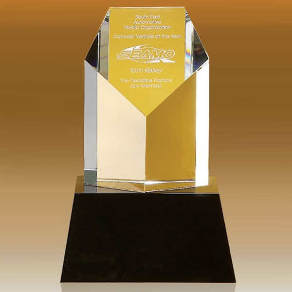 Personalized Clymer Pentagon Shaped Award 5""