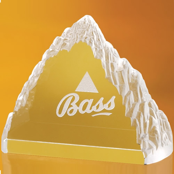 Printed Jacobus Mountain Shaped Award 5 1/2""