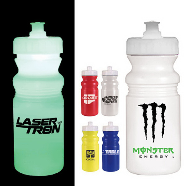 Imprinted Strobe Lid 20 oz cycle bottle