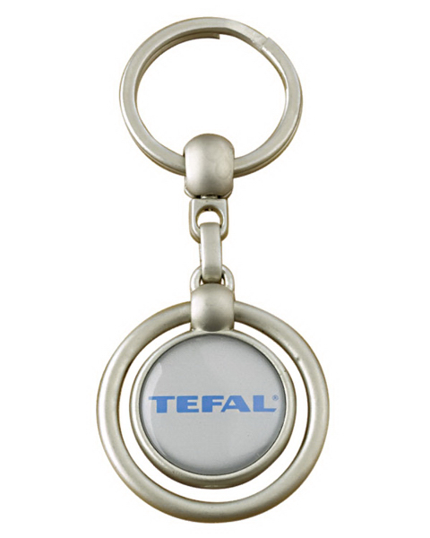 Promotional Round Metal Domed Key Holder